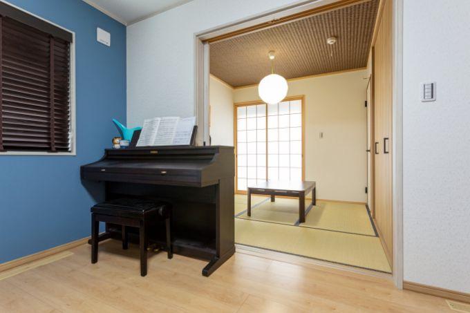 リビングに隣接している和室/注文住宅実例