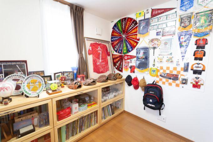 スポーツグッズをコレクションしている部屋/注文住宅実例