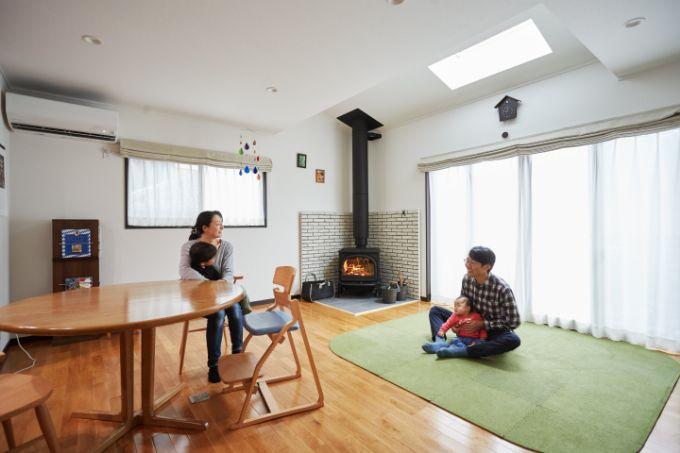 群馬県の注文住宅実例;リビング