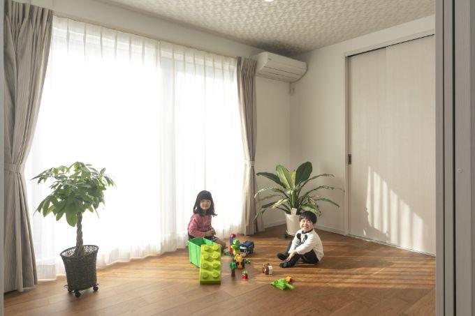 LDKとひとつなぎにできる洋室/注文住宅実例
