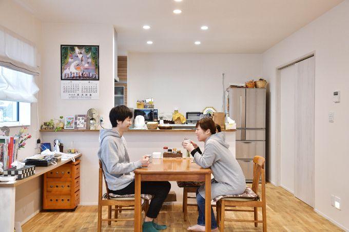 新潟県の注文住宅実例;ダイニング