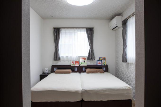 扉を設置せず広く利用できる主寝室/注文住宅実例
