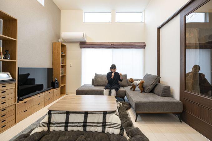 福岡県の注文住宅実例;リビング