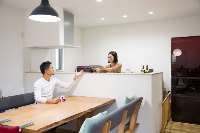 好みの内装をそろえたキッチン/注文住宅実例
