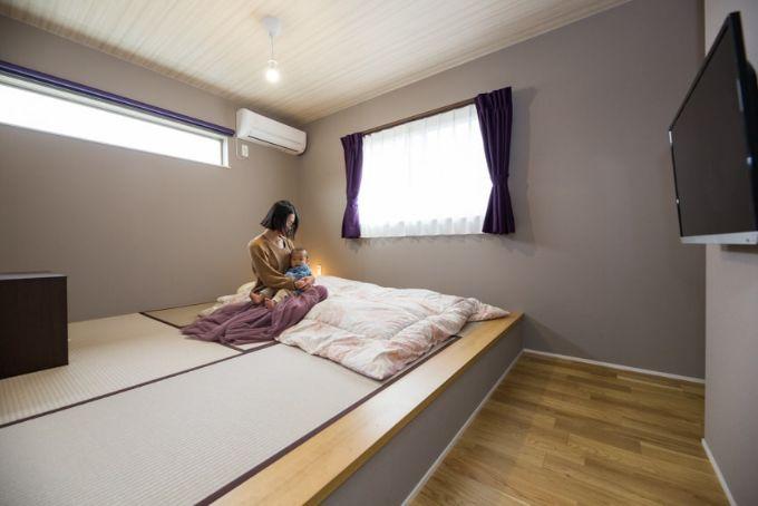 家族で寝るベッドとして小上がりの畳コーナーをつくった/注文住宅実例