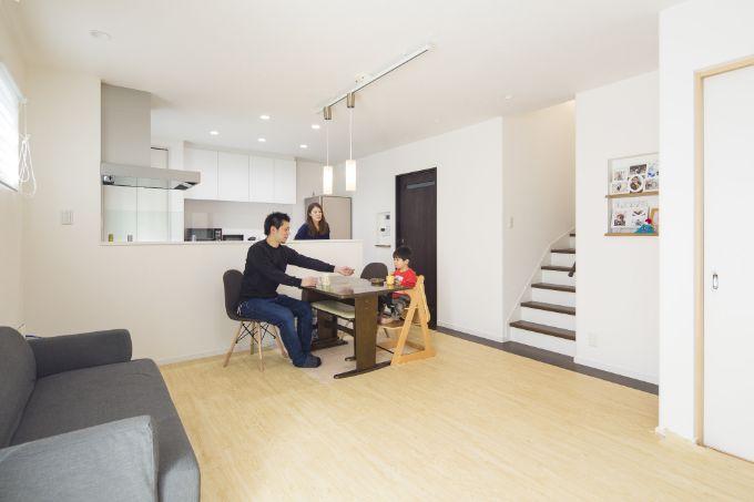 滋賀県の注文住宅実例;ダイニングキッチン