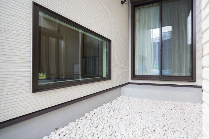これから和風テイストに仕上げる坪庭/注文住宅実例
