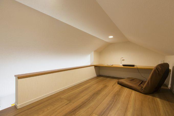 将来子供部屋に使う天井高を活かしたロフト/注文住宅実例