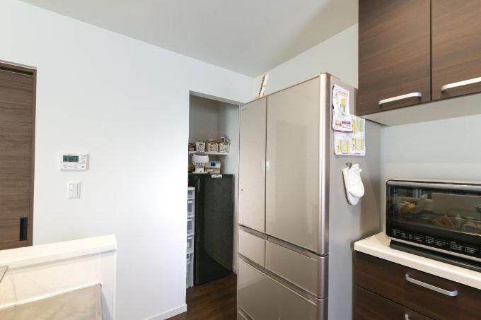 将来を考えて食品をたくさん保管するため設けた収納スペース/注文住宅実例