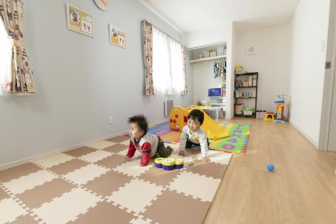将来は個室に分けることもできる子供部屋/注文住宅実例