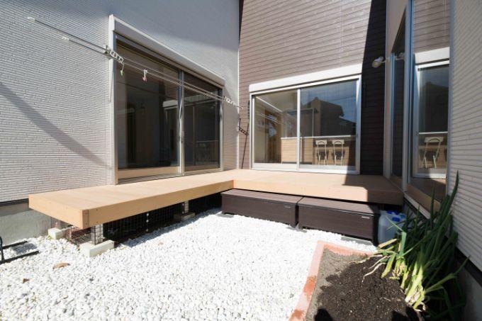 縁側を設置した中庭/注文住宅実例