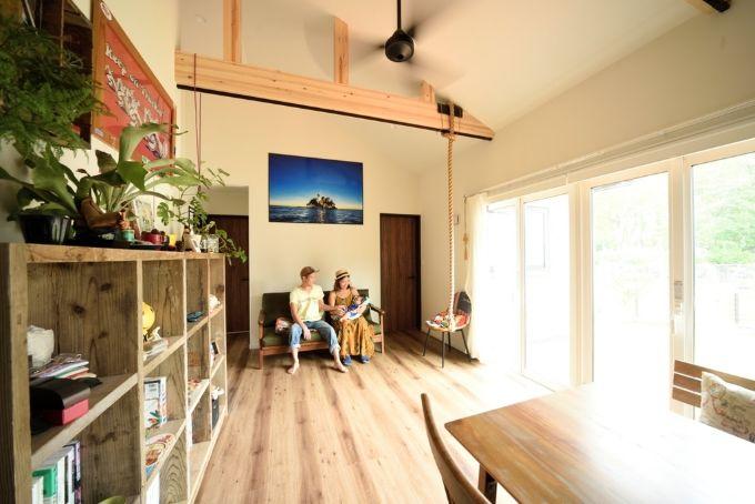 【実例2】DIYも取り入れて叶えた、フラットな二世帯住宅