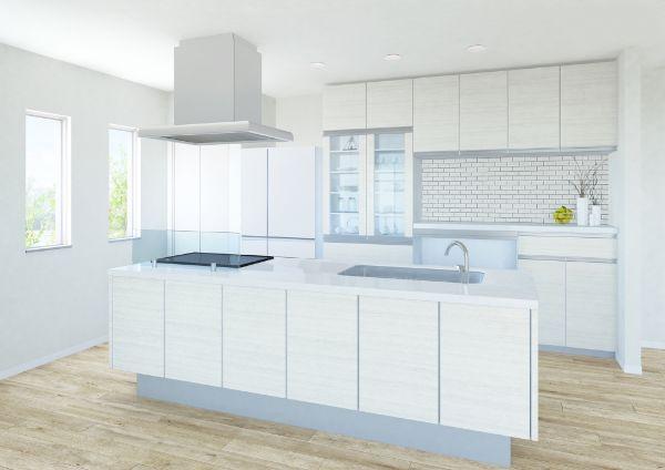 アイランド型対面スタイルのオープンキッチン(画像/PIXTA)