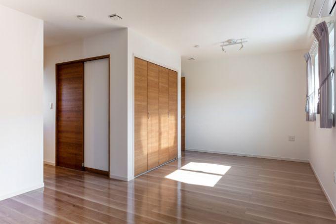将来壁を作って個室にすることのできる洋室/注文住宅実例