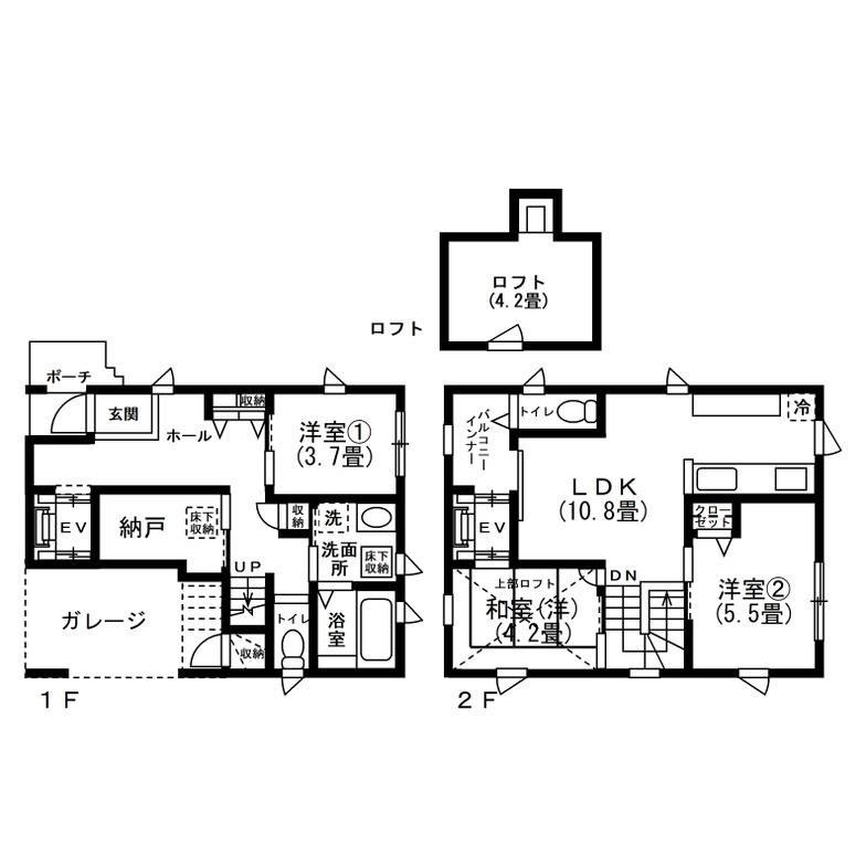 Kさんが建てた注文住宅の間取り図