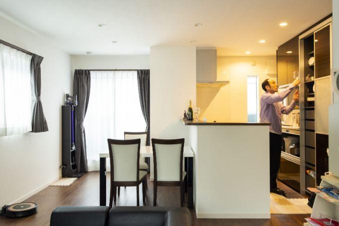 東京都の注文住宅実例;ダイニングキッチン