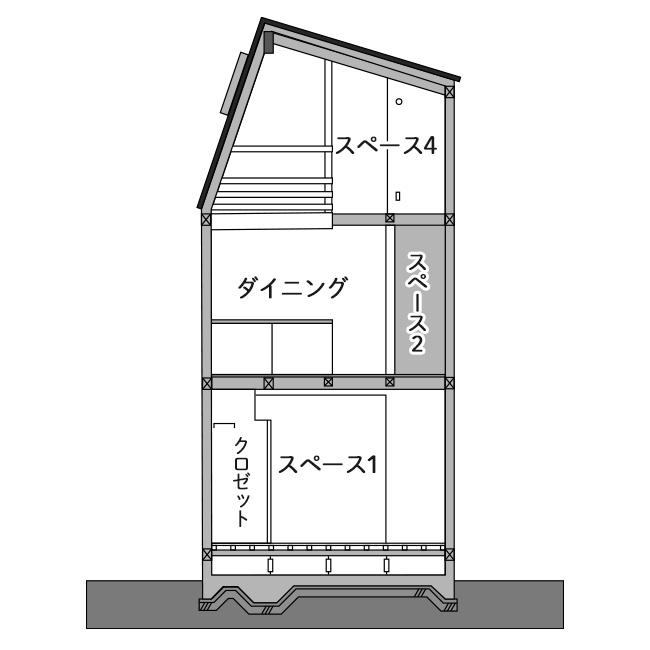 14坪の敷地に計画した明るい住まいの間取り図