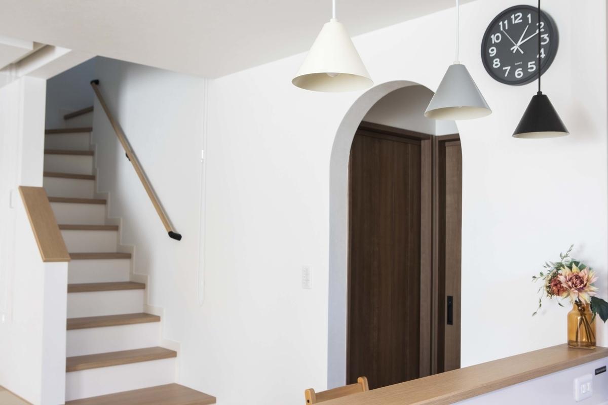 アール型のエントランス/注文住宅実例