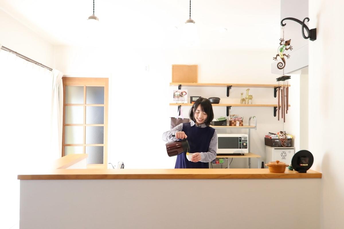 ナチュラルな雰囲気のあるキッチン/注文住宅実例