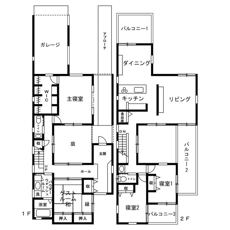 50坪の土地に建てる注文住宅の間取り事例