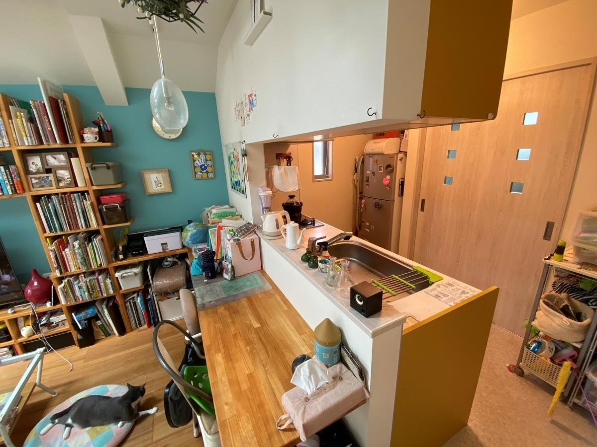 2階に設けているキッチン/注文住宅実例