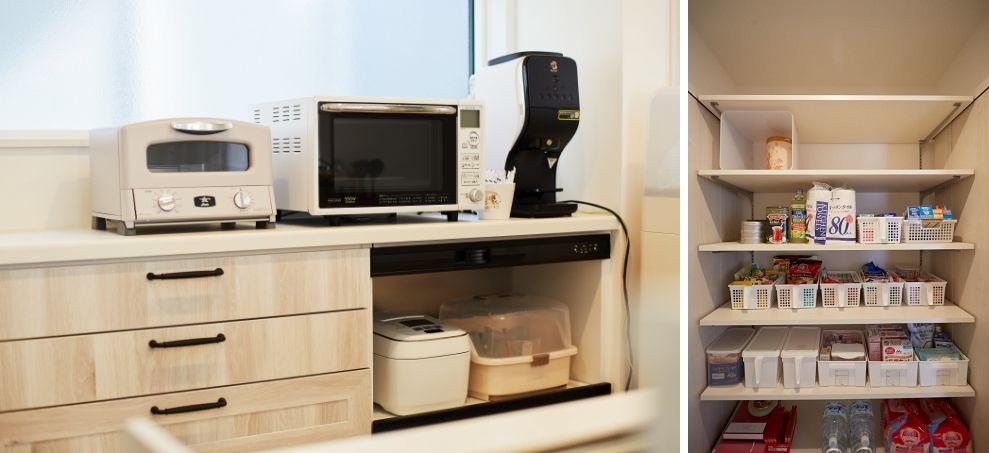 充実したキッチン収納/注文住宅実例