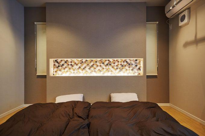 シックな雰囲気の寝室/注文住宅実例