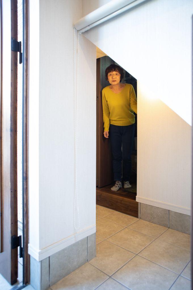 親世帯と子世帯の部屋をつなぐドア/注文住宅実例