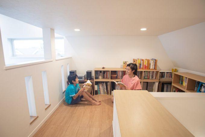 家族のさまざまな目的に使えるロフト/注文住宅実例
