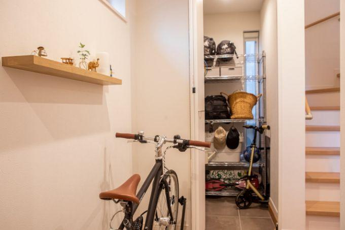 広々とした玄関/注文住宅実例