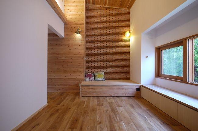 部屋の一角に設けられたヌックのある注文住宅実例