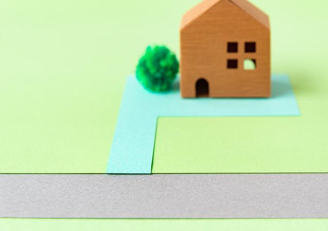 私道に面した家のイメージ