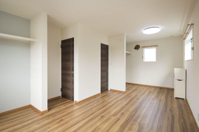2部屋に分けられる子供部屋/注文住宅実例