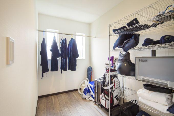 剣道具を保管するため風通しを考えた部屋/注文住宅実例