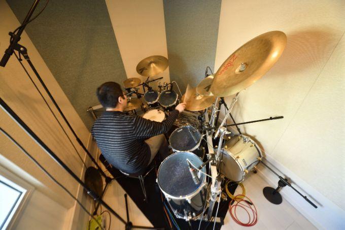 ドラムを設置した防音室/注文住宅実例