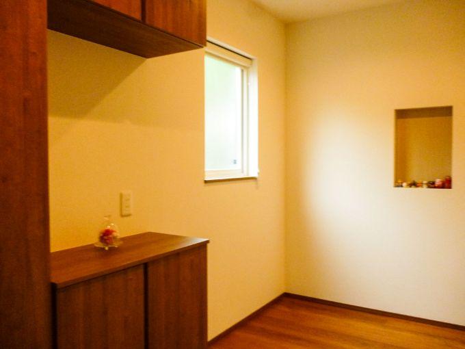 開放的な印象の玄関/注文住宅実例