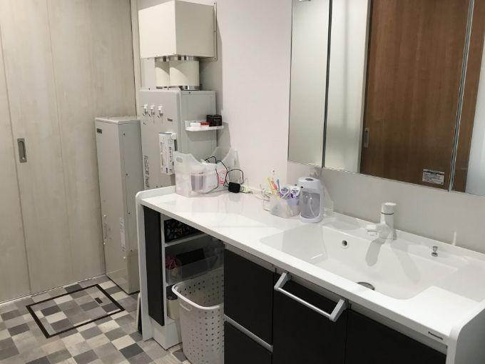 収納もスペースもたっぷりある洗面所/注文住宅実例