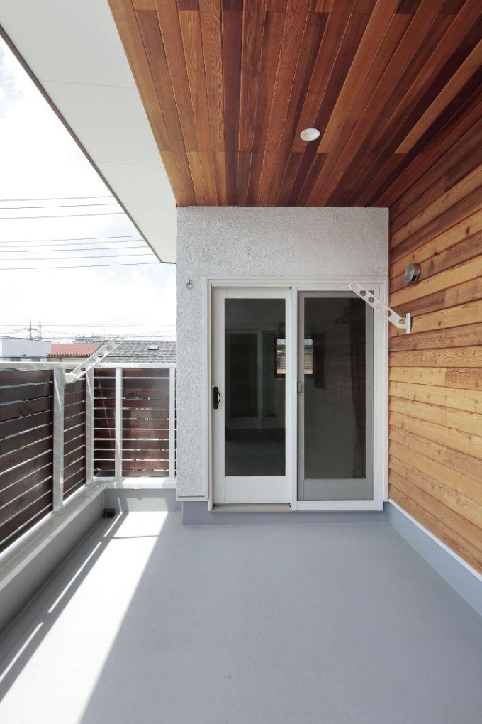 インナーバルコニーを設置した注文住宅実例