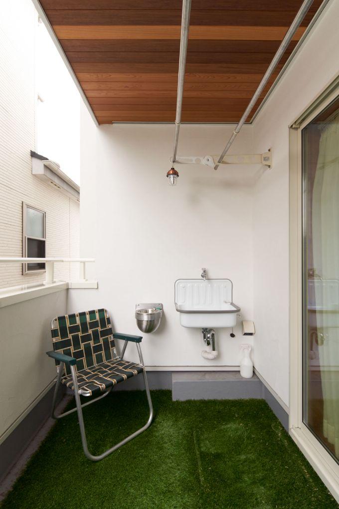 スロップシンクを設置したインナーバルコニーのある注文住宅実例