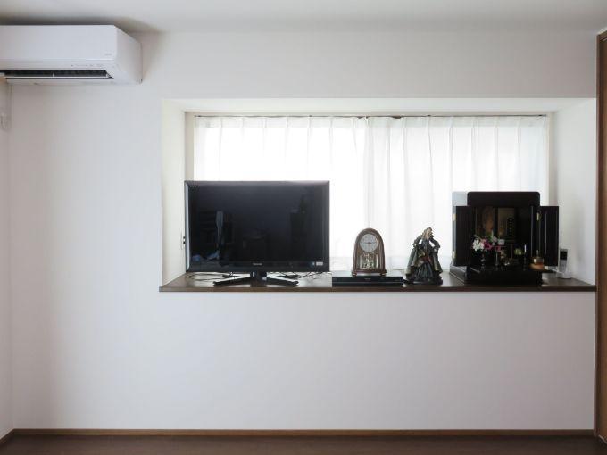 出窓に仏壇を置くスペースを設けた/注文住宅実例