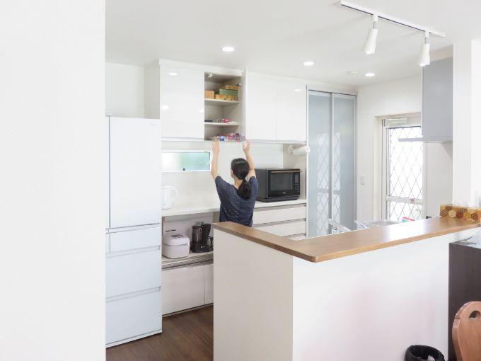 つり戸棚のあるキッチン/注文住宅実例