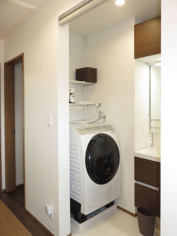 2階の洗濯スペース/注文住宅実例