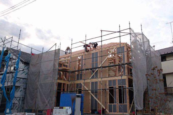 建築中の家/注文住宅実例