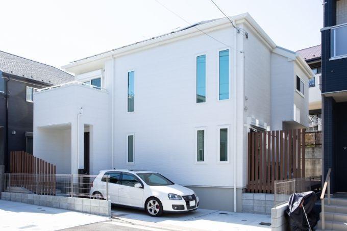 完成した自宅の外観/注文住宅実例