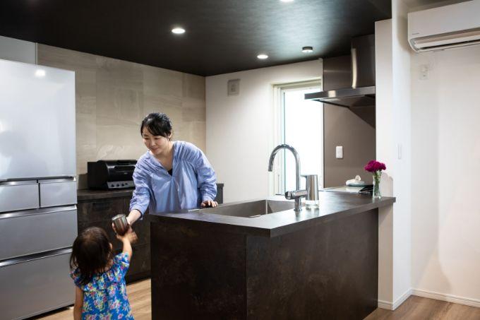 広々としたキッチン/注文住宅実例