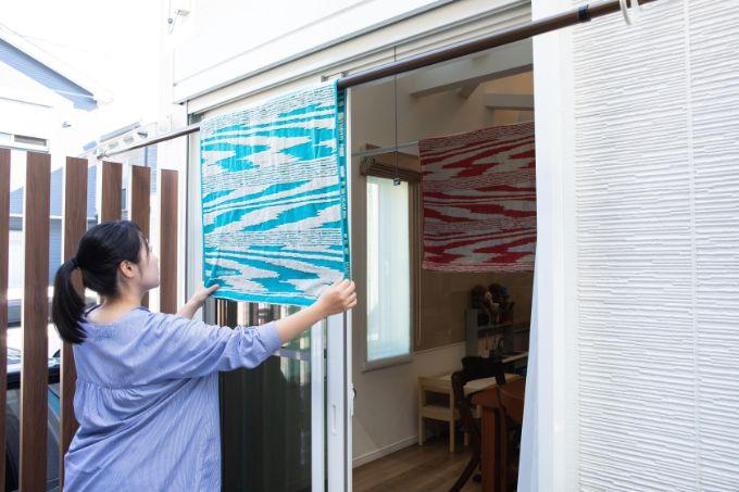 洗濯の動線がラクなテラス/注文住宅実例