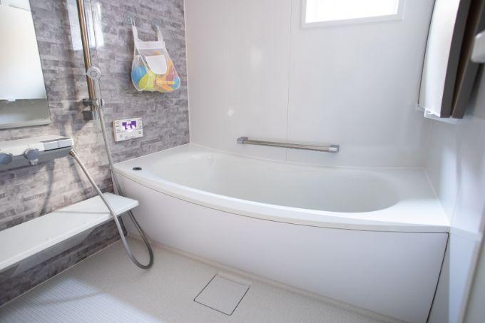 ゆったりとしている浴室/注文住宅実例