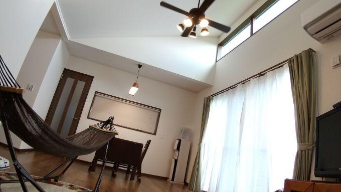 天井の高いLDK/注文住宅実例