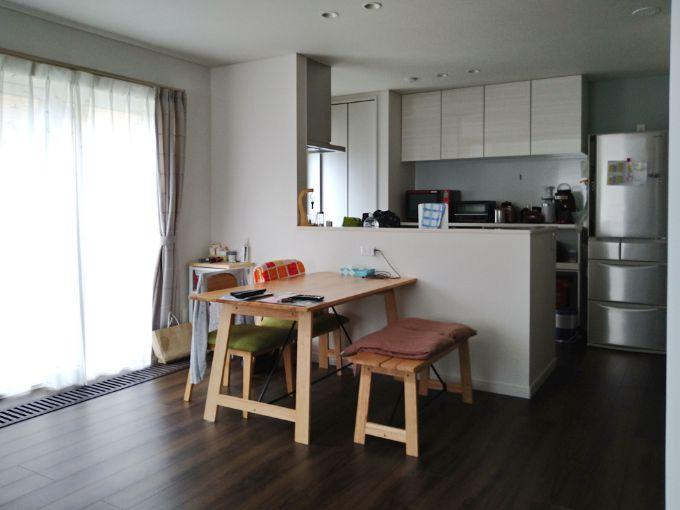 対面式キッチンのあるダイニング/注文住宅実例