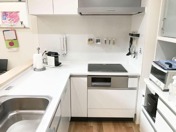 動線を最低限にしたL型キッチン/注文住宅実例
